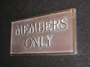 members only plaque