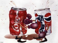 Coca Cola and Pepsi fighthing