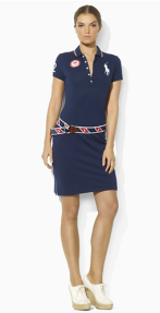 Team USA Mesh Polo Dress