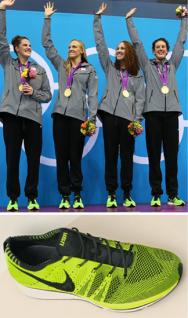 Neon Green Nike FlyKnit Trainers