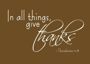 Give thanks - Thanksgiving