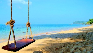 beach swing summer
