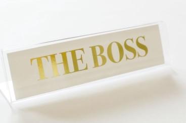 boss nameplate